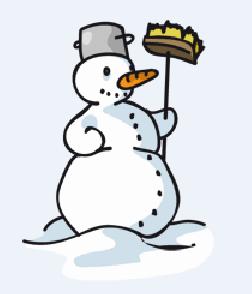 Schneemann Symbol Winter Stationenlauf