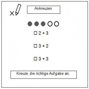 """Tafelsymbol """"Ankreuzen"""""""
