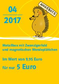 Zahlenbuchfanclub Angebot Metallbox mit Zwanzigerfeld und magnetischen Wendeplättchen Metallbox mit Zwanzigerfeld
