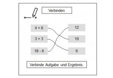 Operatoren für die Klasse 1/2: Verbinden, Ankreuzen, Einkreisen