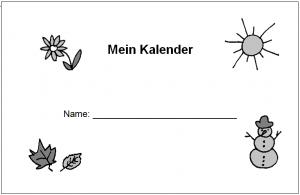 """Stationenlauf Zeit: Deckblatt der Kopiervorlage """"Kalender gestalten"""""""