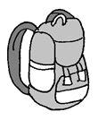 Rucksack gezeichnet