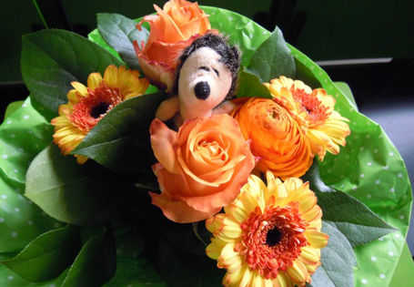 Blumenstrauß Igel