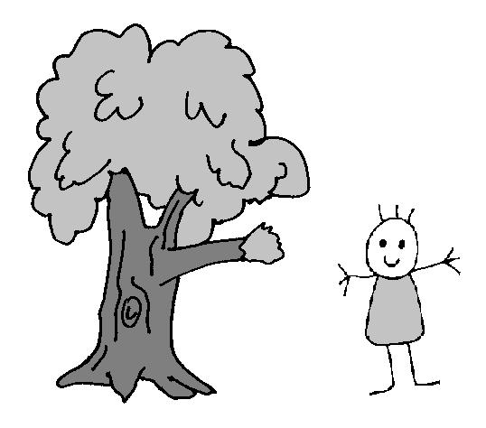 Längen: Kind und Baum im Verhältnis