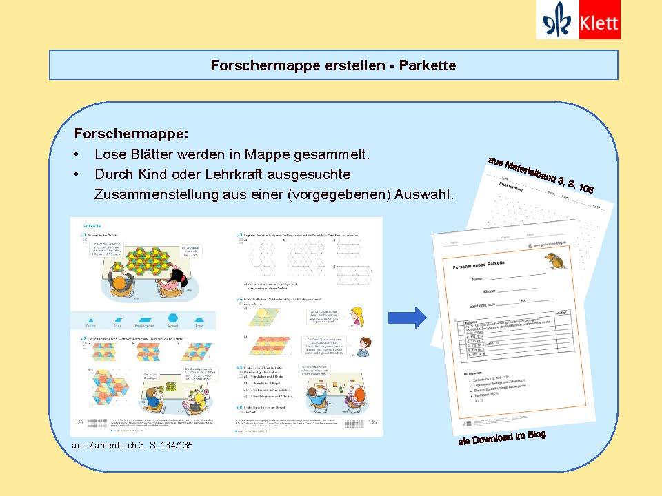 Besondere Lernaufgaben: Forschermappe, Präsentation Silke Pyroth 2018