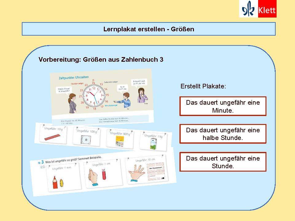 Besondere Lernaufgaben: Lernplakat Größen erstellen, Präsentation Silke Pyroth 2018