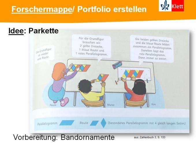 Besondere Lernaufgaben: Forschermappe Parkettierung, Präsentation Silke Pyroth 2018