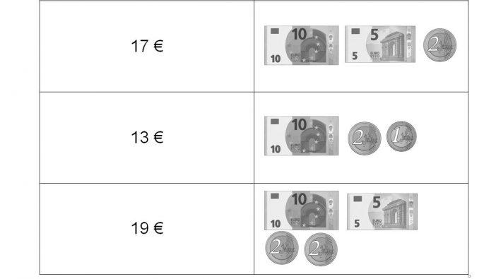 Euro und Cent: Teil 1 Stationenlauf zum Thema Geld Klasse 1